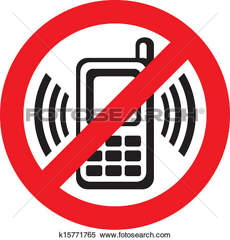 Clipart of No phone vector sign k12635603.