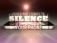 Please Silence Your Cell Phone Engraved Sign.