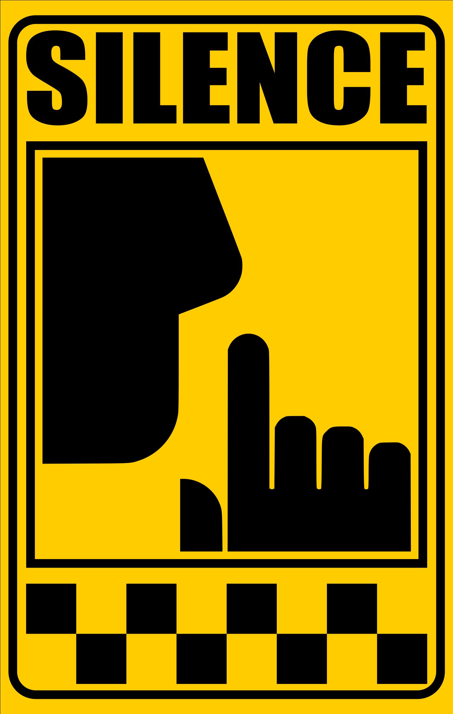 HD Silence Clipart Silence Sign.