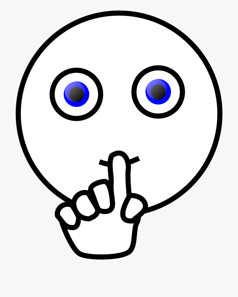 Silence Sign Clipart Black And White.