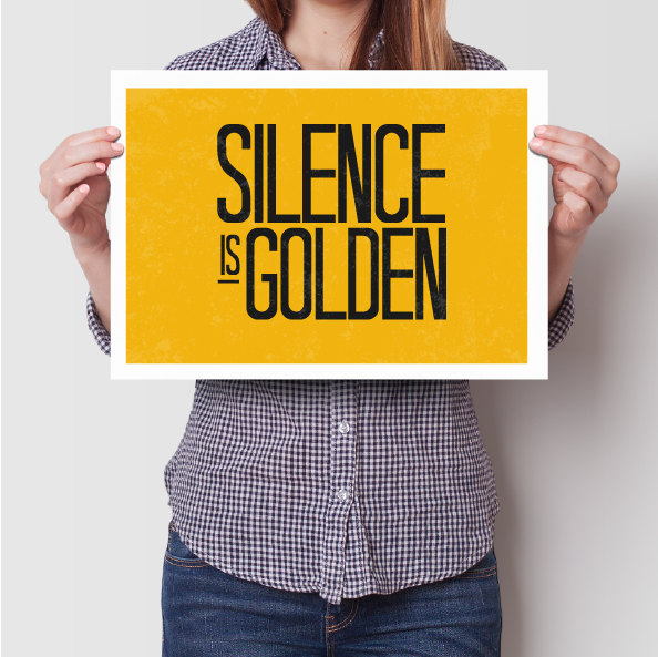 silence is golden Inspirational quotes home quote by AngelaFerrara.