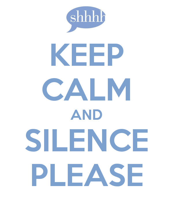 Silence is golden clipart.
