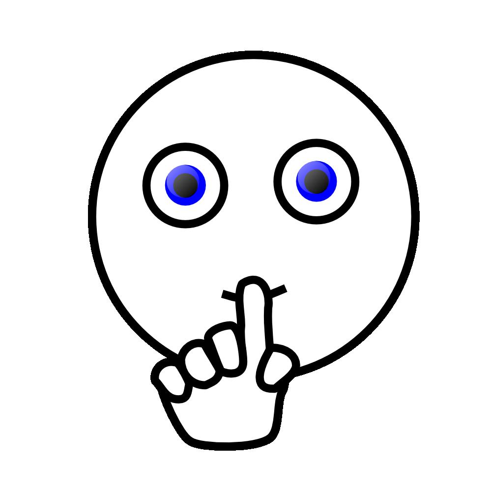 clipartist.net » Clip Art » emoticons silence face SVG.