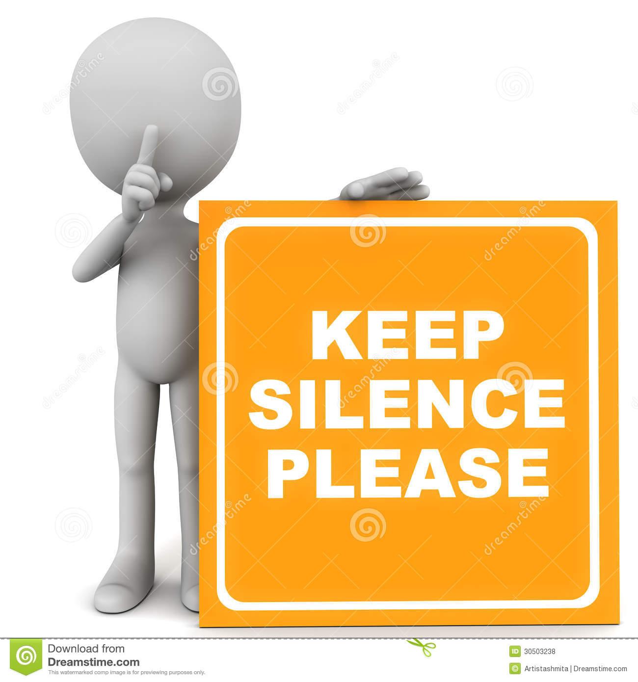 Silence please clipart 9 » Clipart Station.