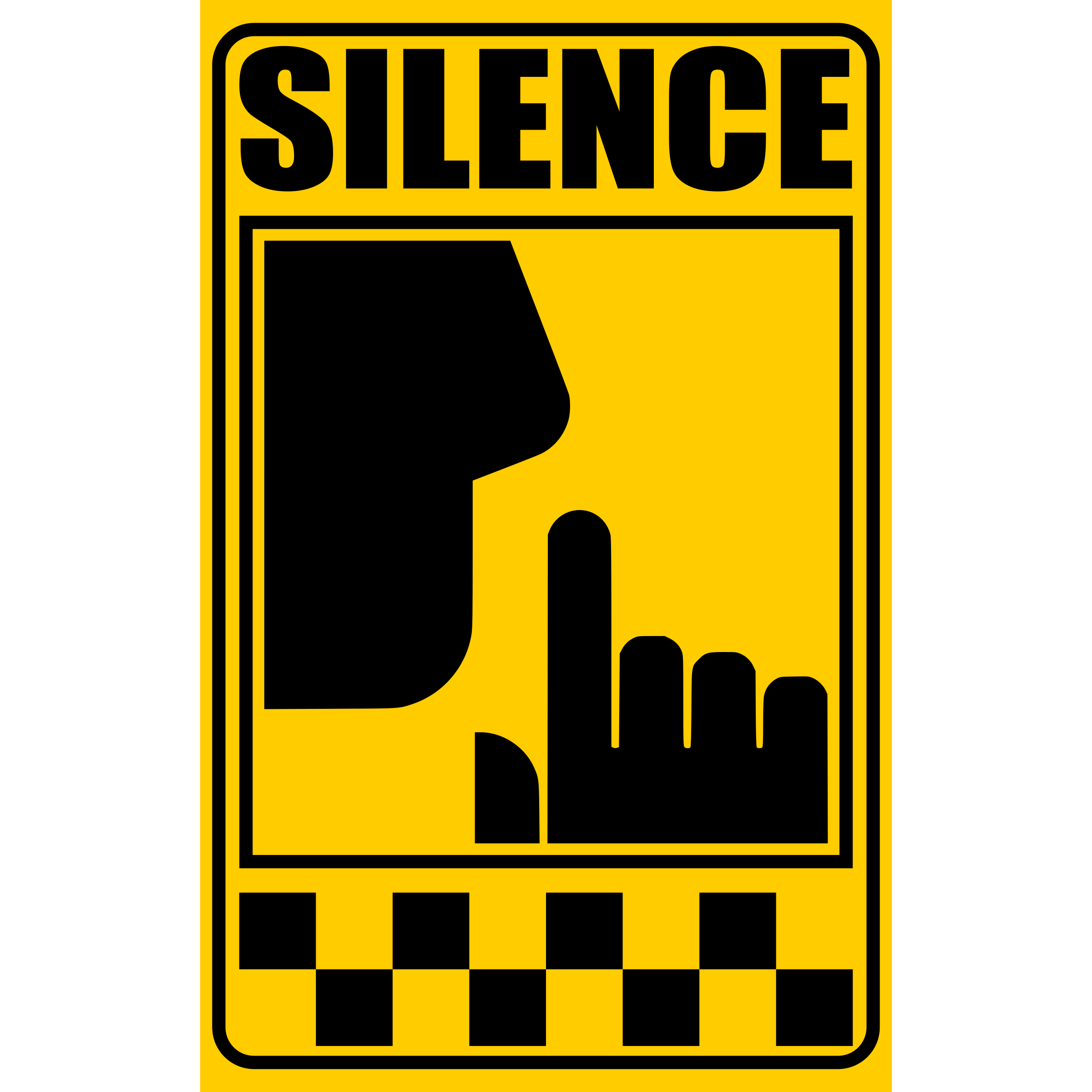 Silence Sign Clipart.