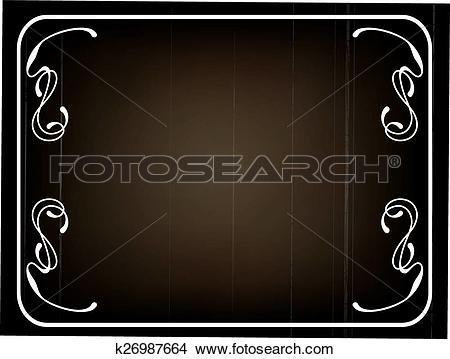Clipart of silent movie frame k26987664.