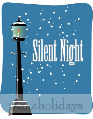 Silent Night with Snowy Lamp Post.