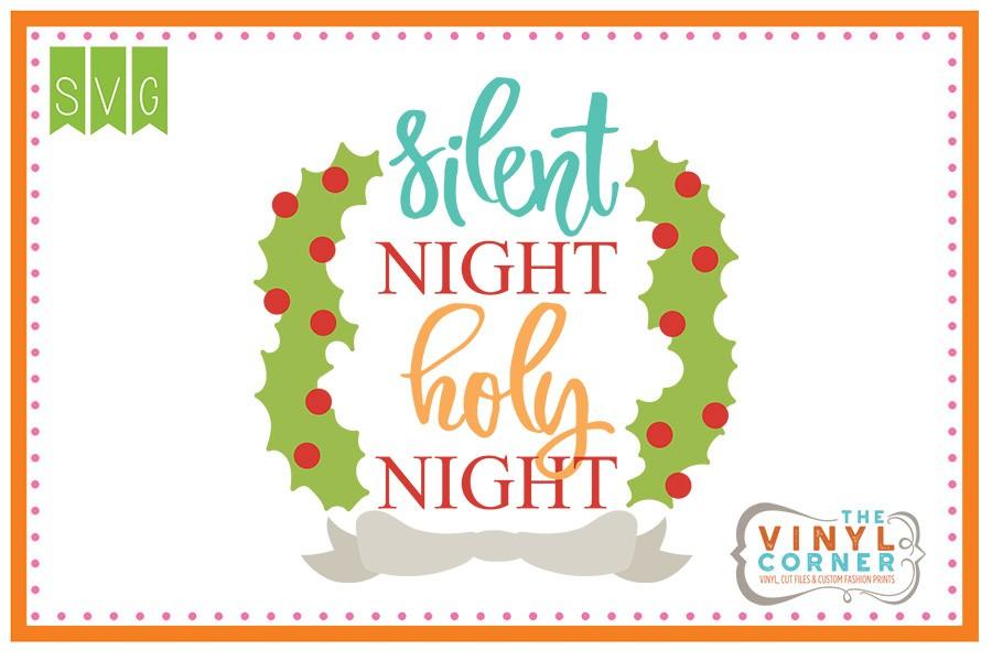 Applique Corner Silent Night Holy Night cuttable design.