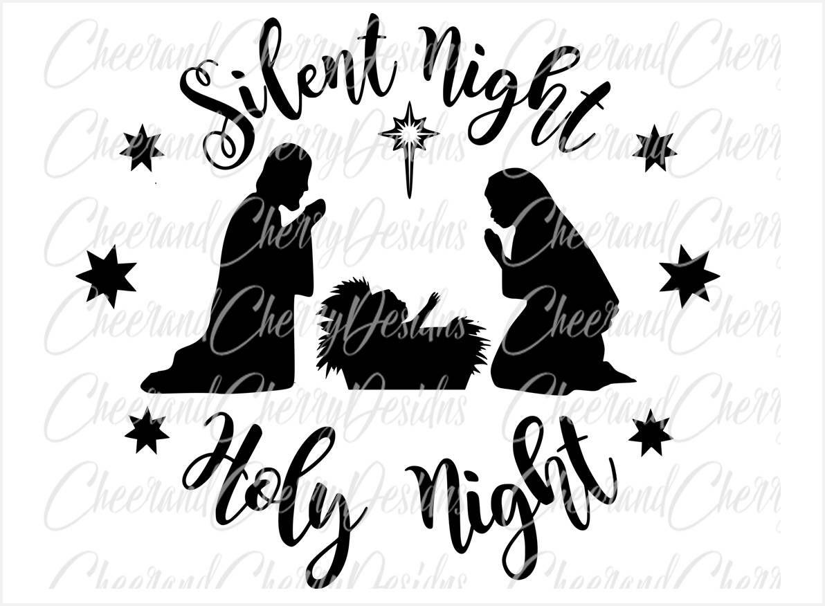 Nativity scene Svg Nativity SVG Christmas SVG design Silent.
