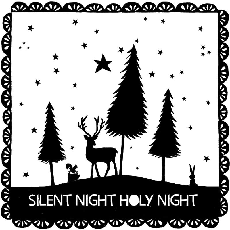 Silent Night Holy Night Illustration.