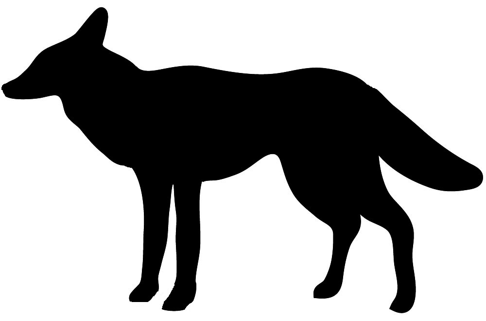 Silhouette animal clipart #5