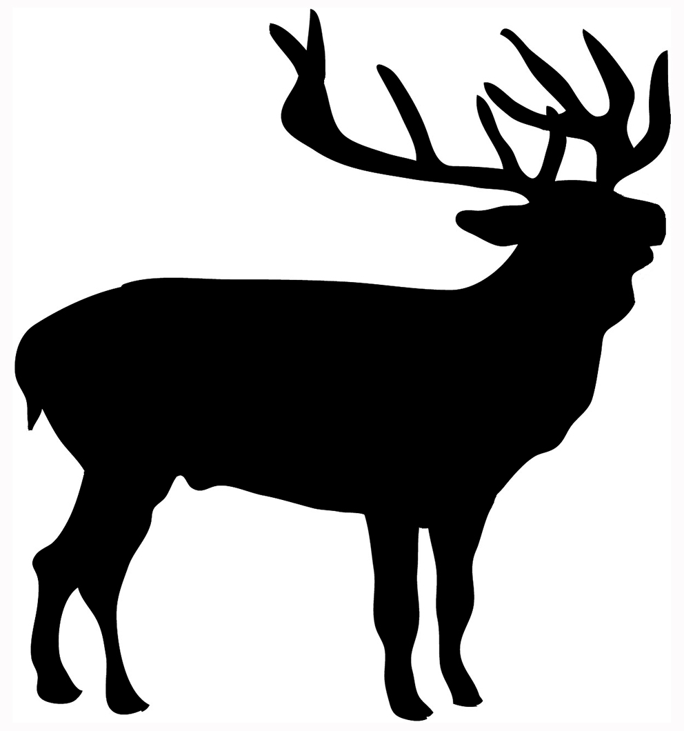 Silhouette animal clipart #15