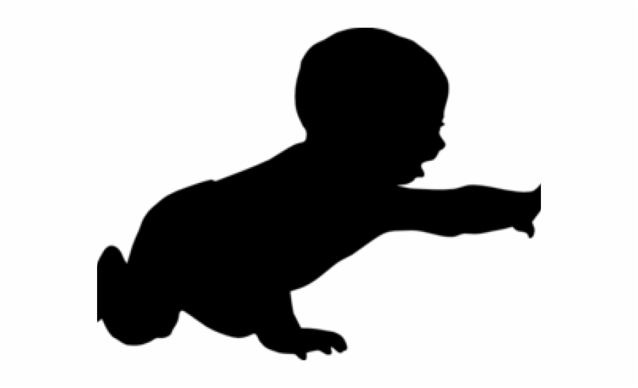 Baby Crawling Silhouette Png Free PNG Images & Clipart.