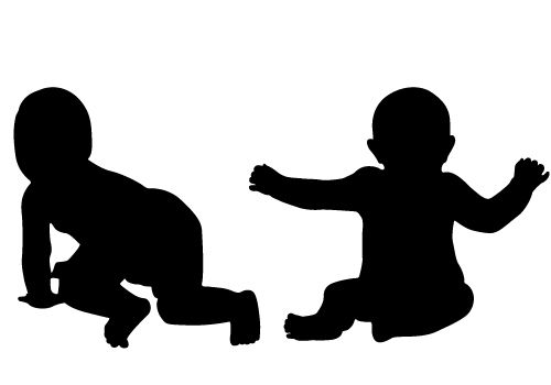 Two Free Baby Silhouette Vector For Free Download Awesome.
