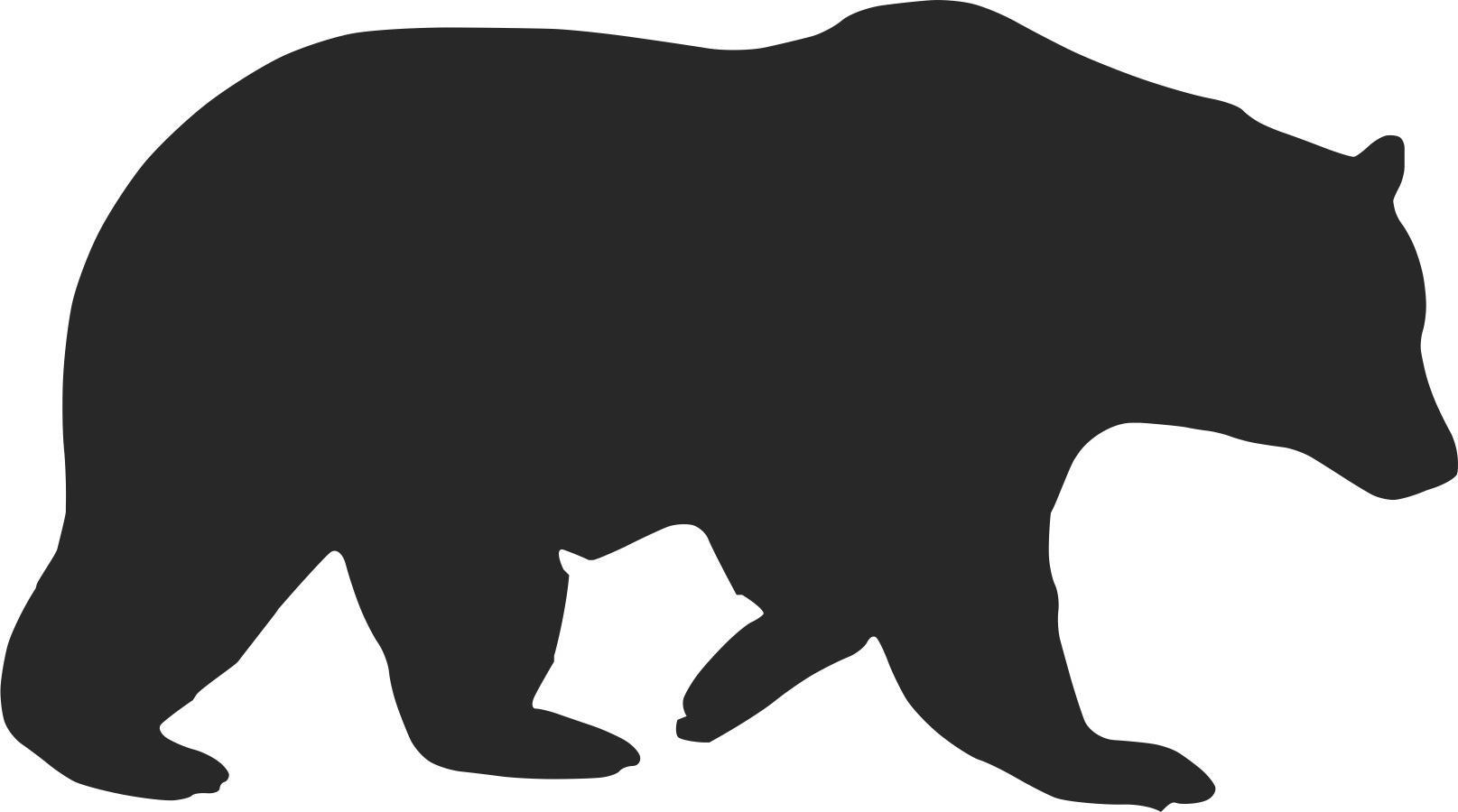 Bear Clip Art Silhouette.