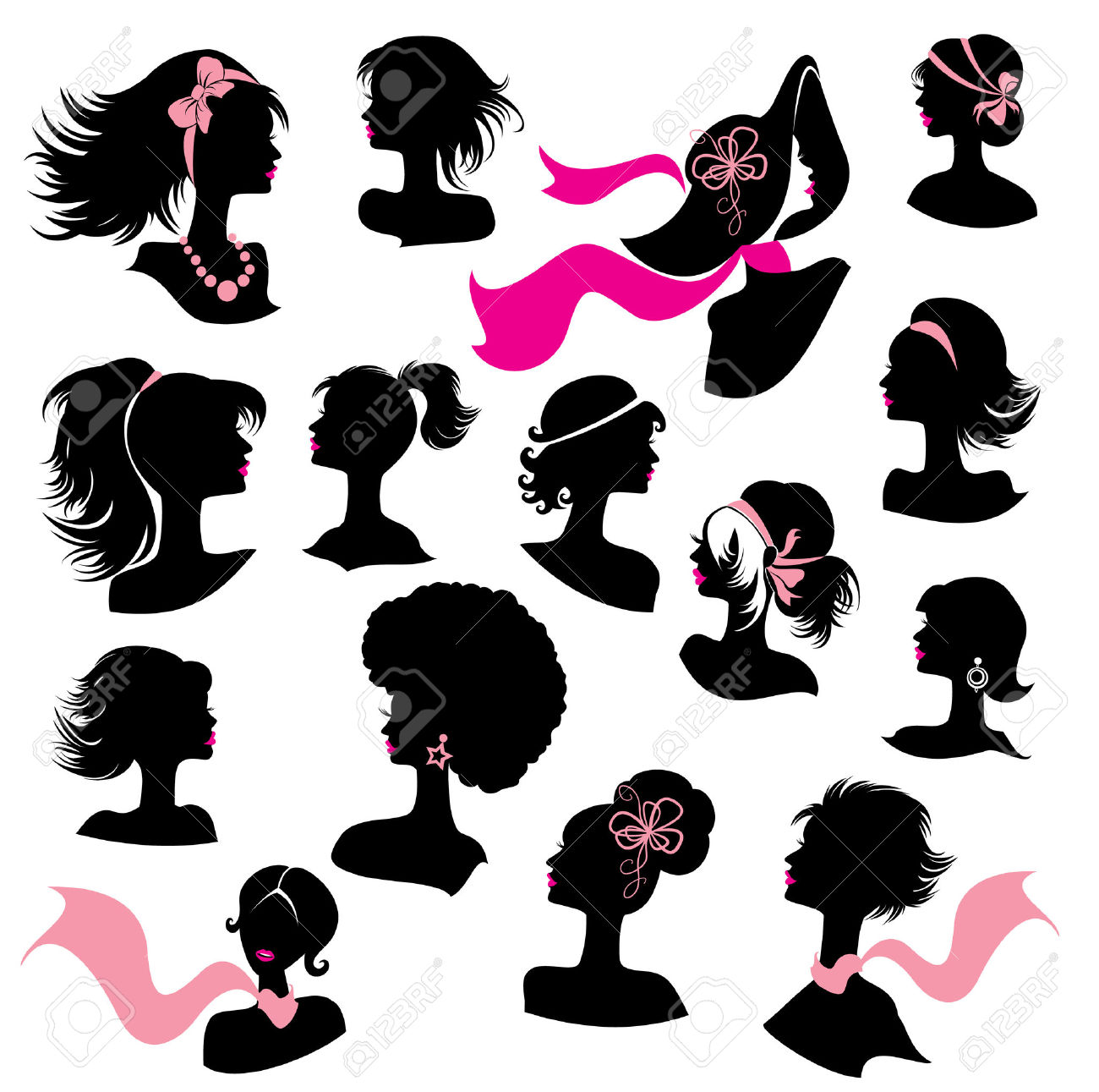 3,756 Ponytail Stock Illustrations, Cliparts And Royalty Free.