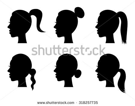 Ponytail Stock Images, Royalty.