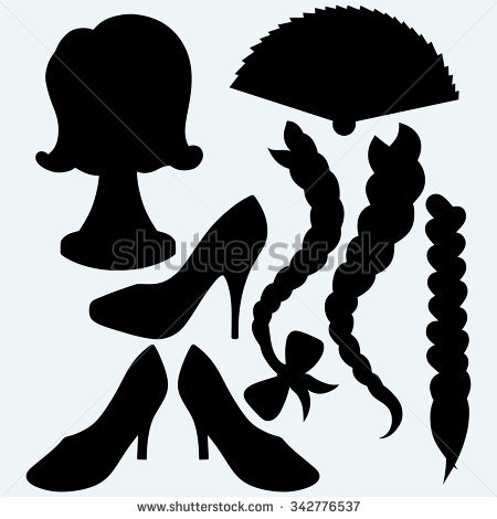 Silhouette Braid Black Hair From Back Clipart Clipground