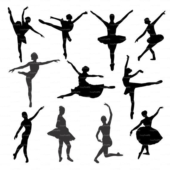 Ballerina ballet silhouette (eps, svg, dxf, ai, jpg, png) Vector.
