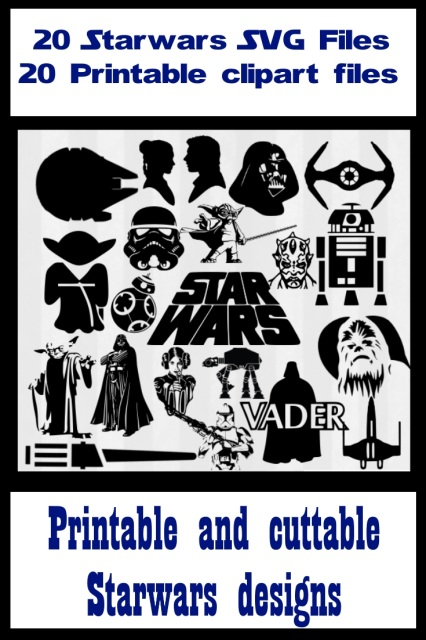 Star wars SVG files and printable clipart Vector cutting files for.