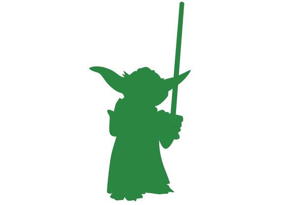 Yoda Silhouette Paper Ephemera Cut Out Art Any by RiniPaperCuts.