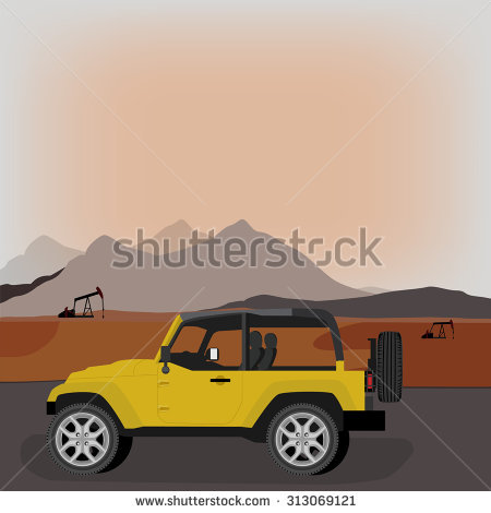 Jeep Silhouette Stock Images, Royalty.