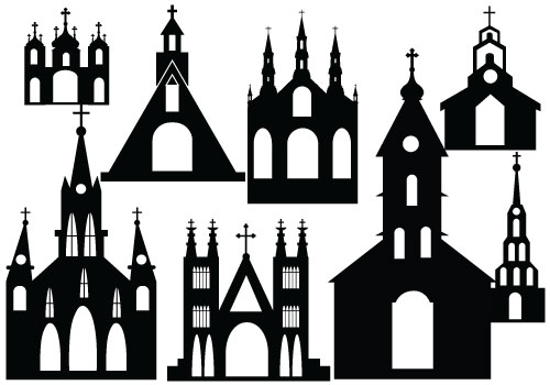 Silhouette Of Church Clipart.