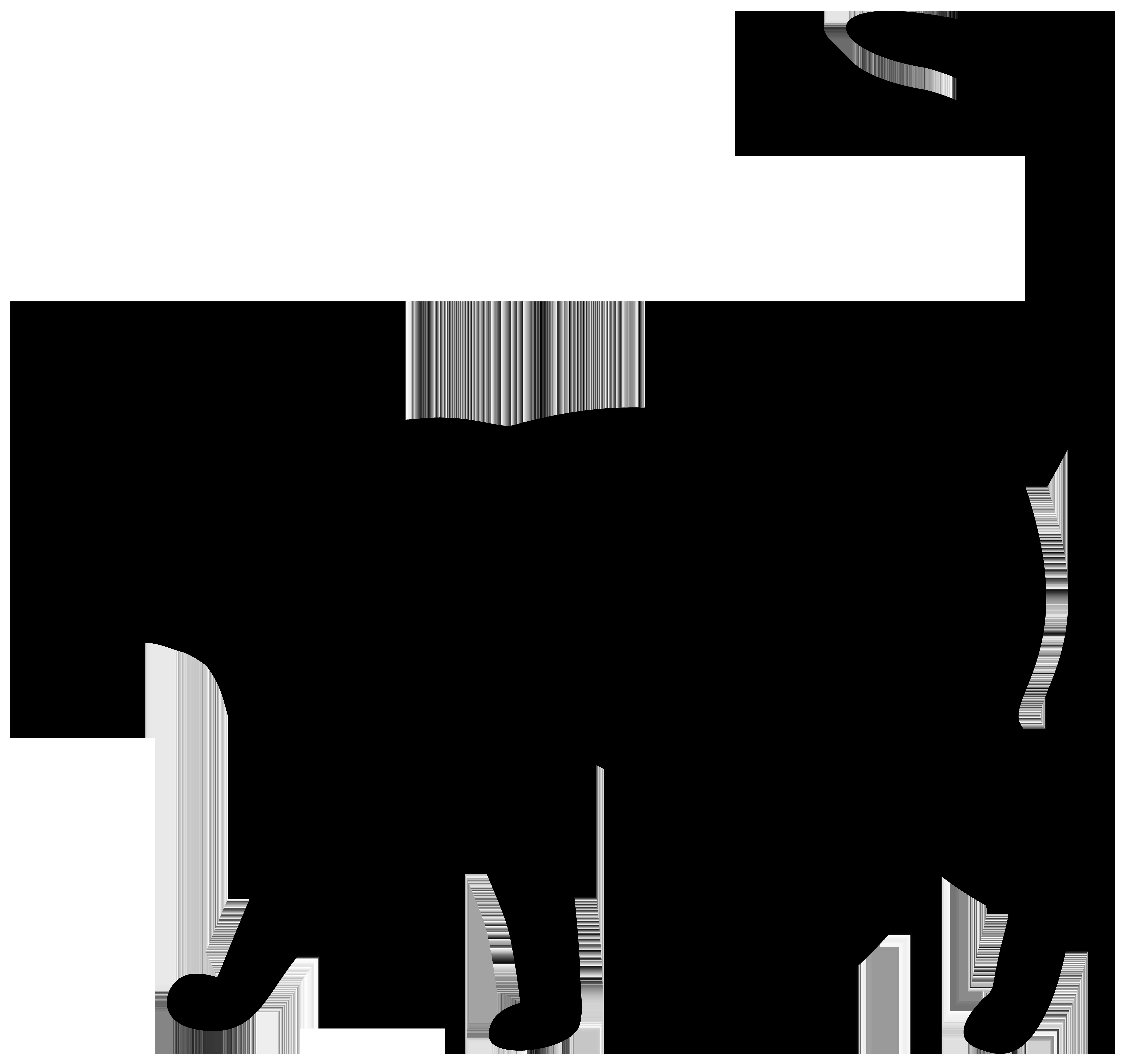 Cat Silhouette PNG Transparent Clip Art Image.