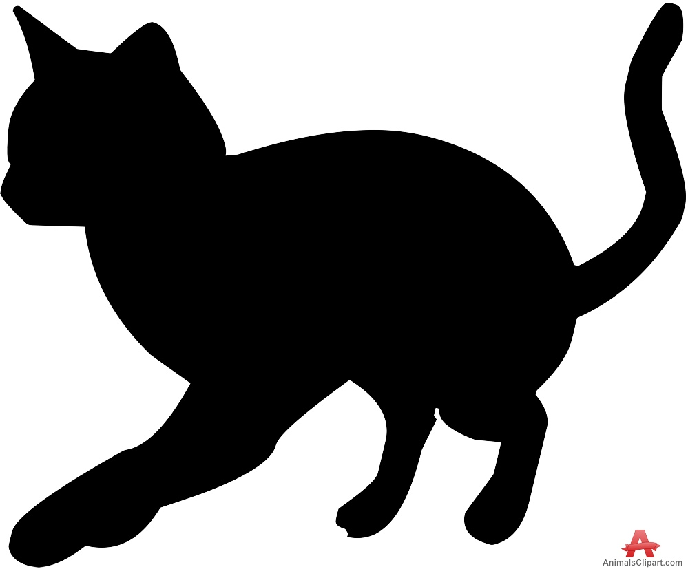 Silhouette Cat Clipart Clipground