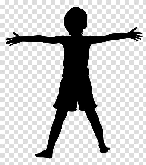 Child art Silhouette , child transparent background PNG.