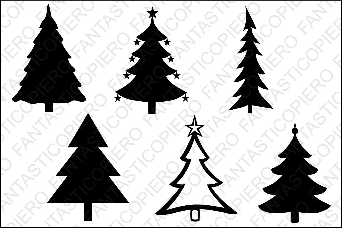 Christmas tree SVG files for Silhouette and Cricut..
