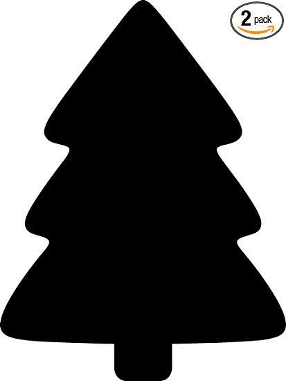 Black Simple Christmas Tree Clipart.