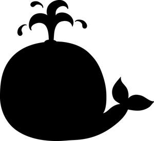 whale silhouette. Clip art.