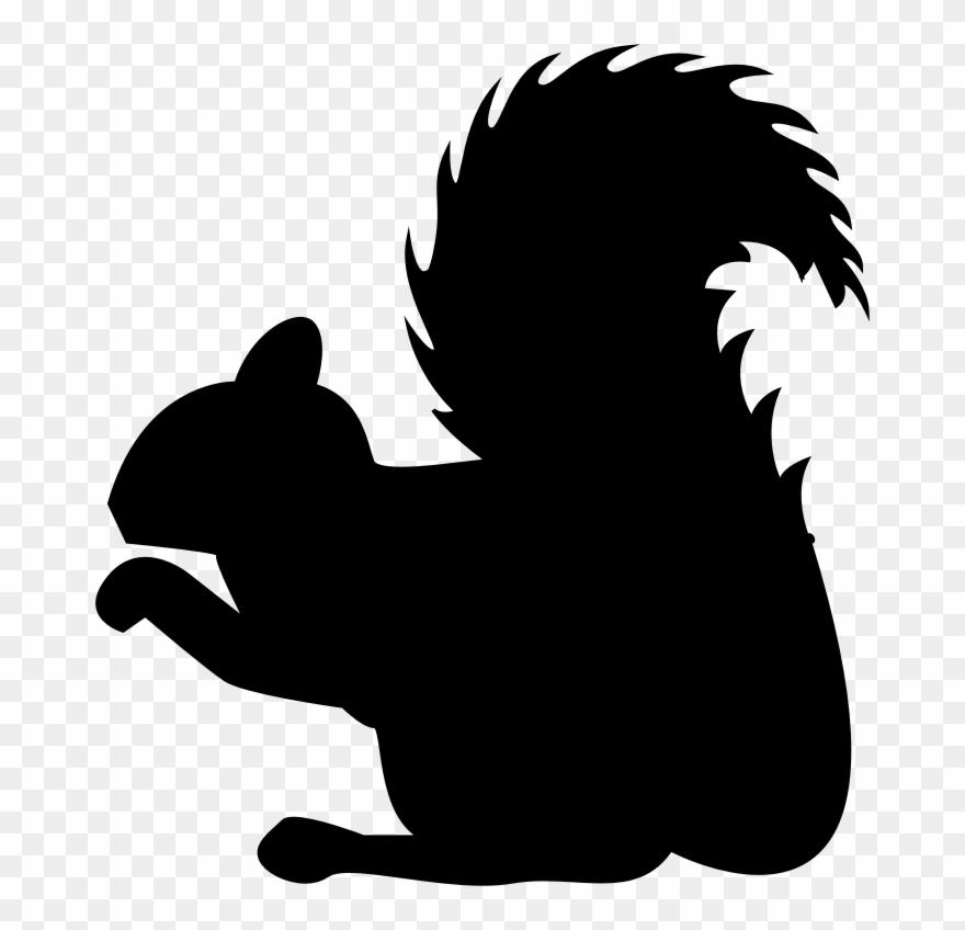 Clipart Squirrel Profile Silhouette Clip Art Of Squirrel.