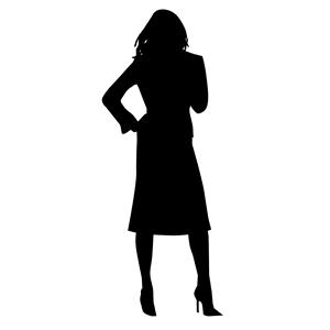 Female Silhouette Clipart.