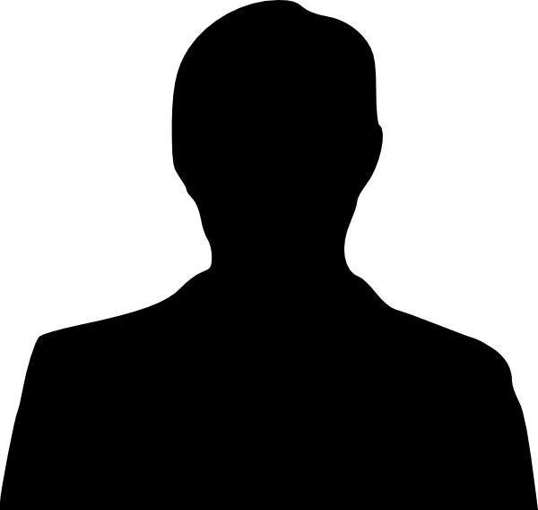 Man Silhouette clip art Free vector in Open office drawing.