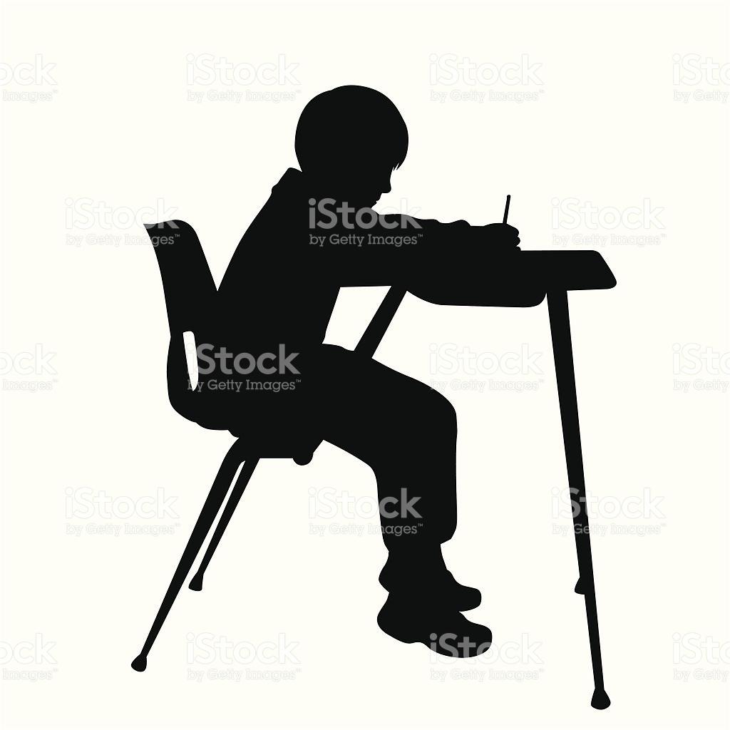 School Boy Icon Vector Silhouette stock vector art 165592773.