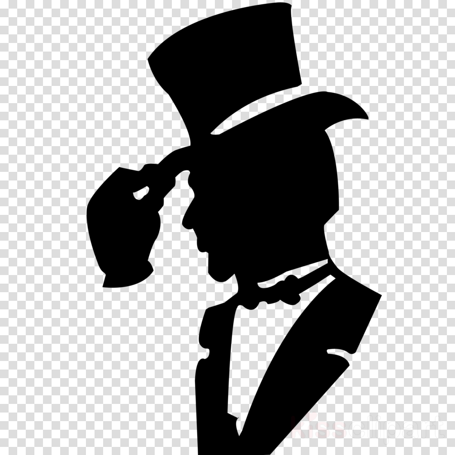 clip art gentleman male black.