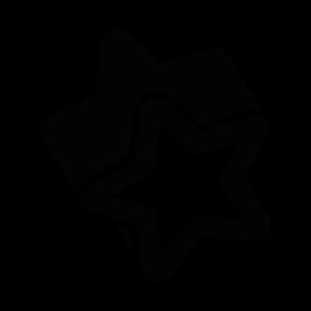 Christmas Star Silhouette.