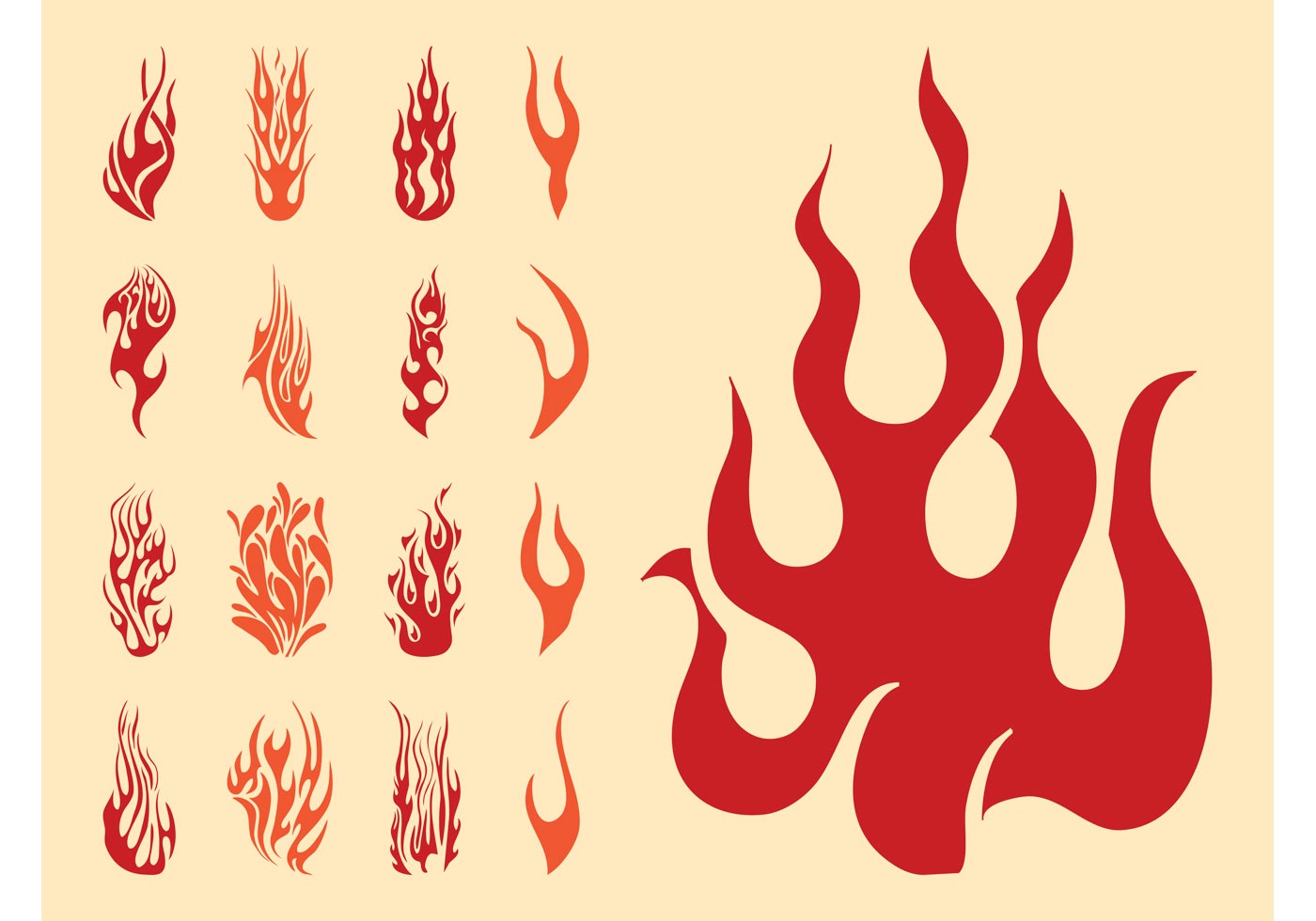 Vector flame.