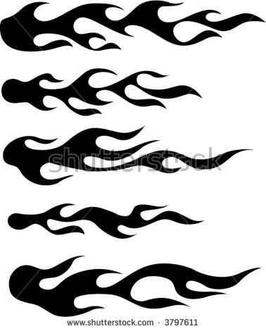 Flame Silhouette Stock Images, Royalty.