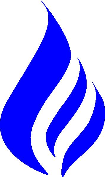 Blue Flame Clipart.