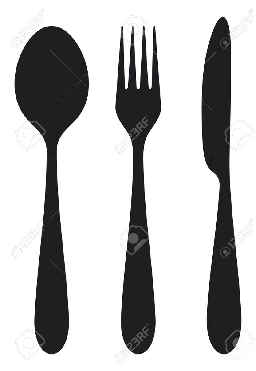 how to put spoon fork and knife