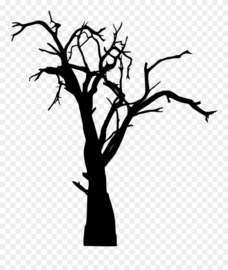 Tree Silhouette Vector Free Download.