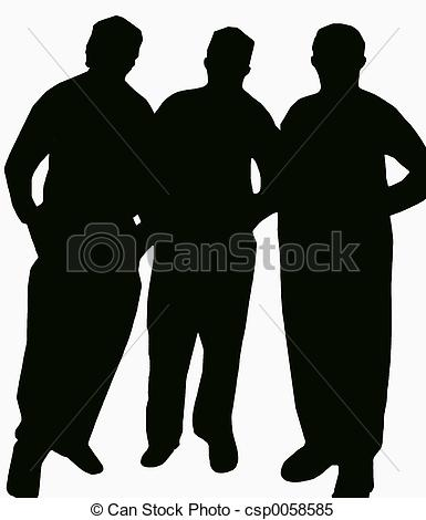 Stock Images of Three Friends.