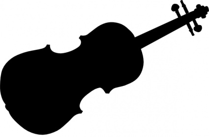 Violin Silhouette clip art vector, free vector images.