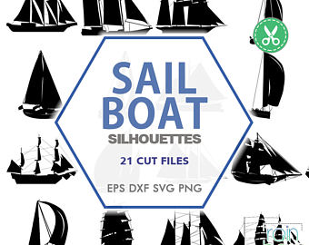 Items similar to Nautical Sea Clip Art Design Elements Yacht.