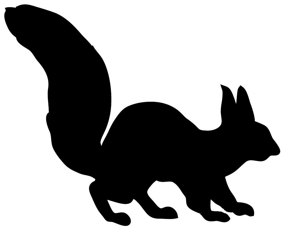 Running Squirrel Silhouette.