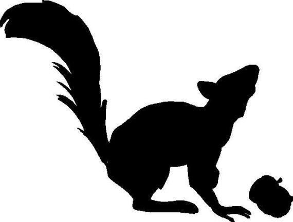 Squirrel Silhouette.