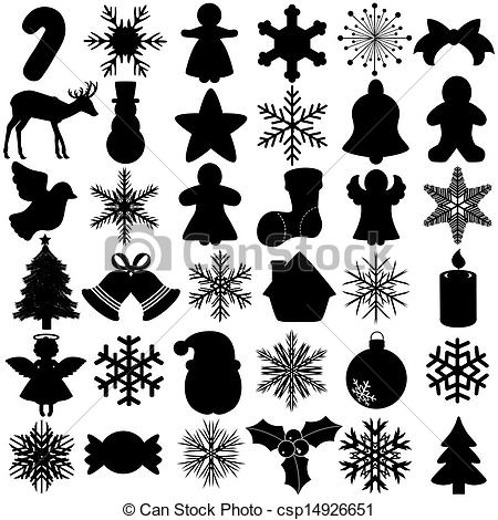 Clipart Vector of Snowflake Christmas Symbol.